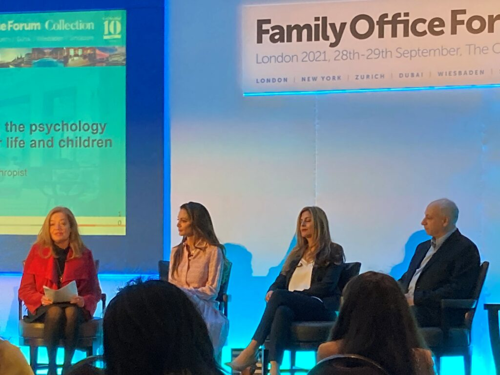 adam caller on a panel at the prestel and partner family office forum